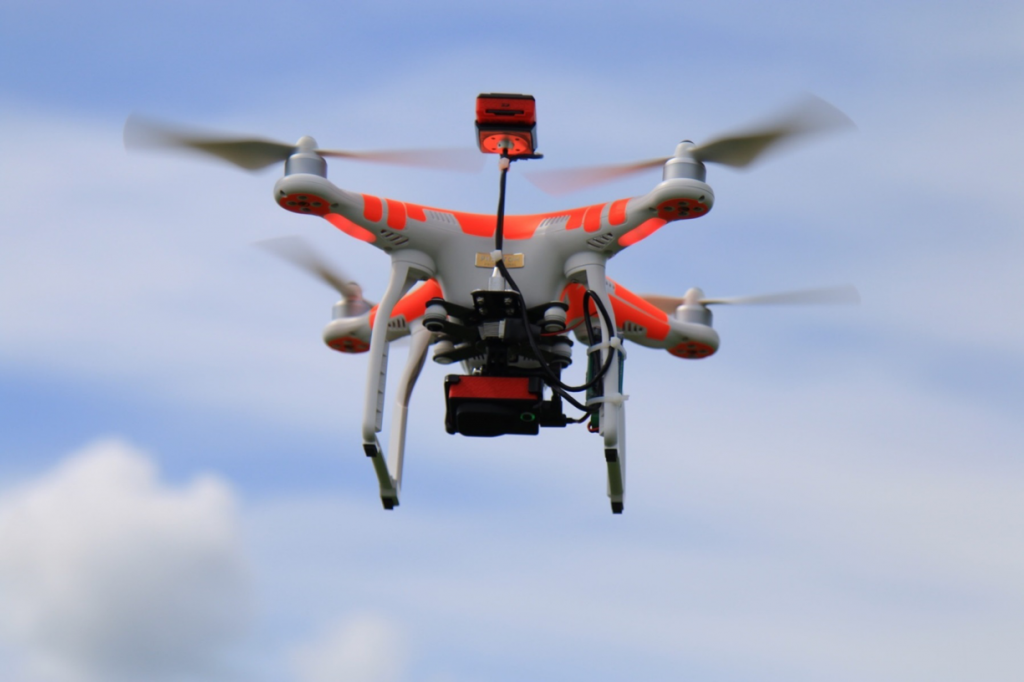UAV mapping with Multi-spectral sensors.