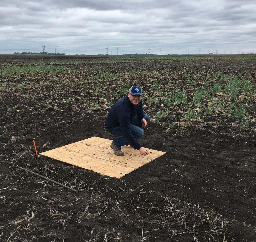 Planting the 400 bushel corn plot